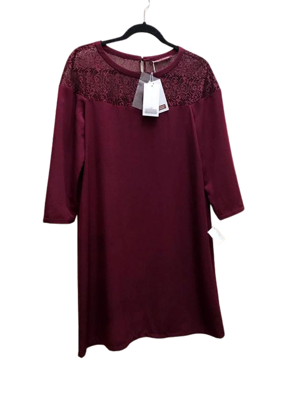 CDC Maroon Lace Dress
