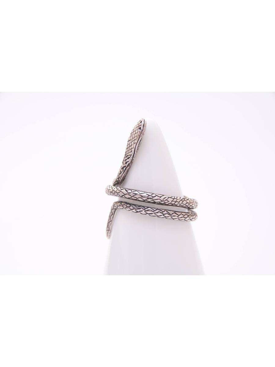 Vintage Snake Ring, Retro Etched Sterling Silver Serpent Ring