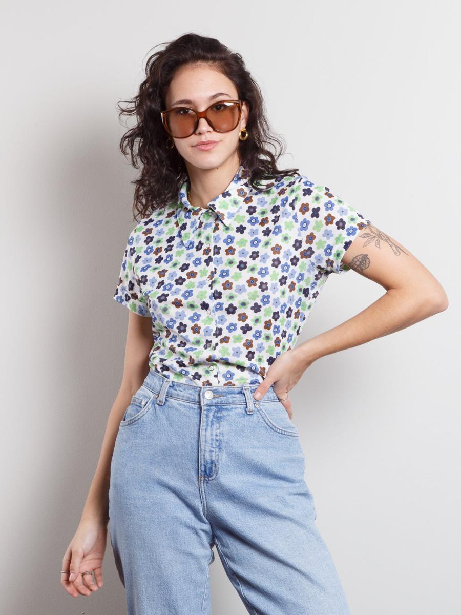 Vintage Disco Flower Shirt