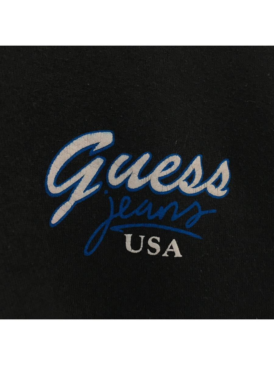 Vintage 90's Guess Sweater Zipped up Bootleg biglogo embroided