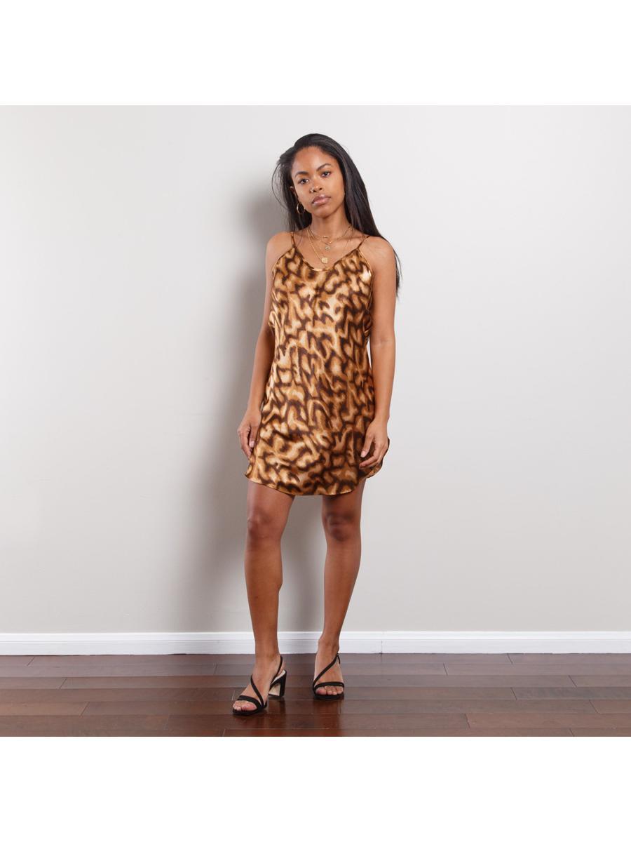 90s Cheetah Print Slip