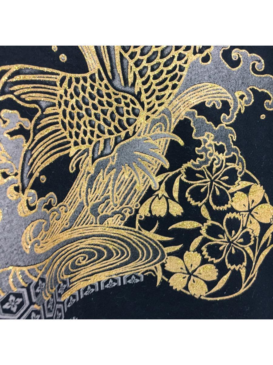 Vintage Sukajan Koi Fish Gold Sweatshirt Japan Souvenir Design