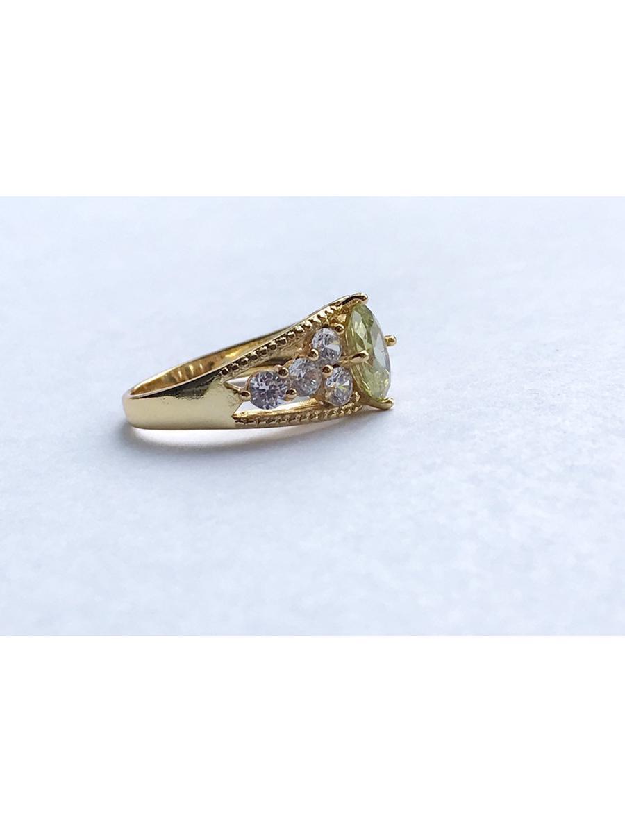 Green cz ring