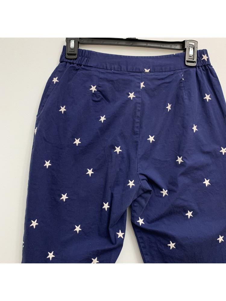 Blue Cropped Pants with White Stars