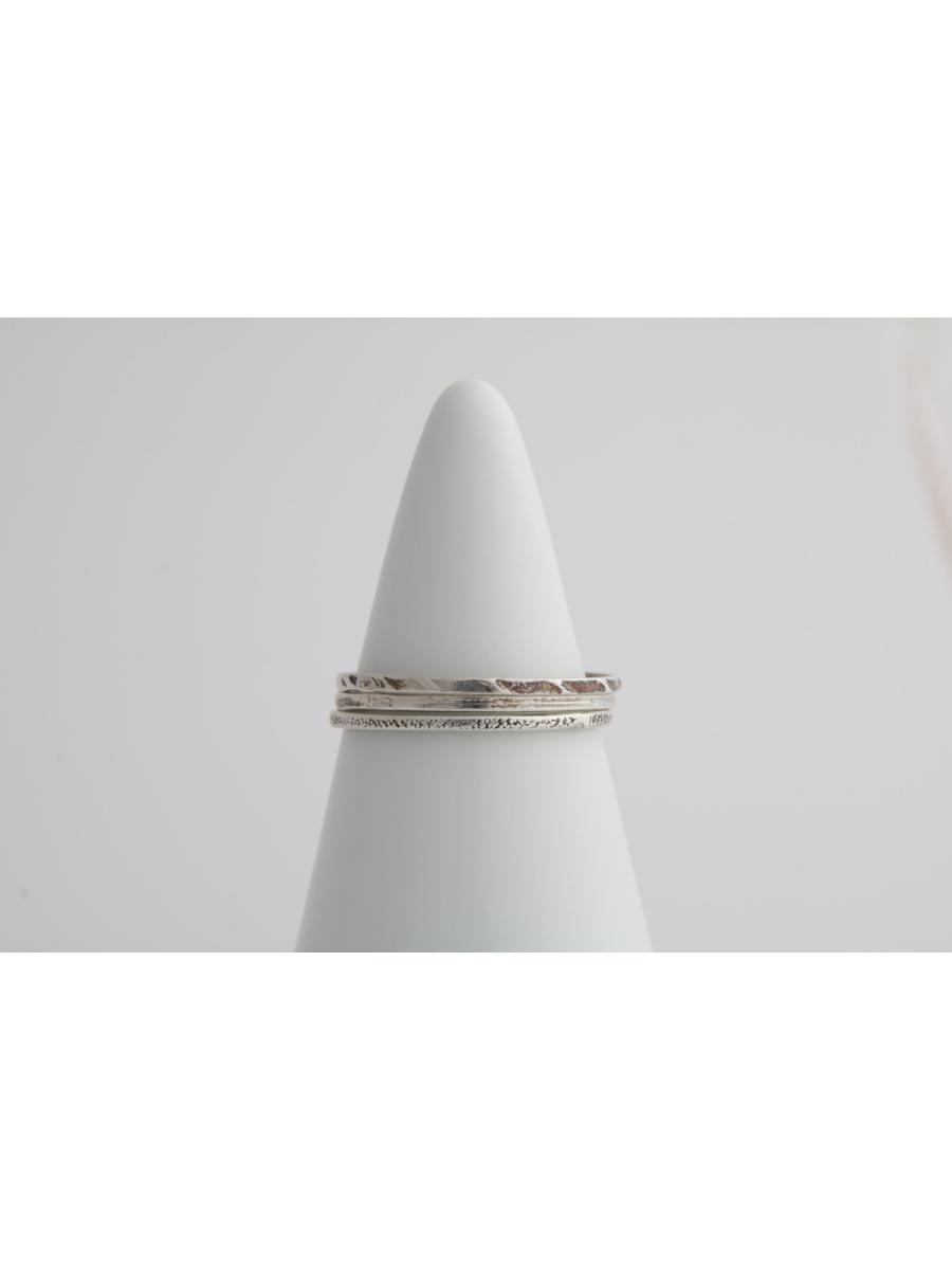 Stamped stacking ring set, Vintage set of stacking rings