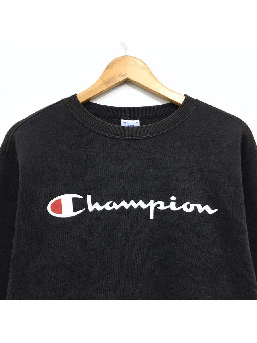Rare!!Vintage Champion Sweatshirt Premium Weave Big logo basic logo