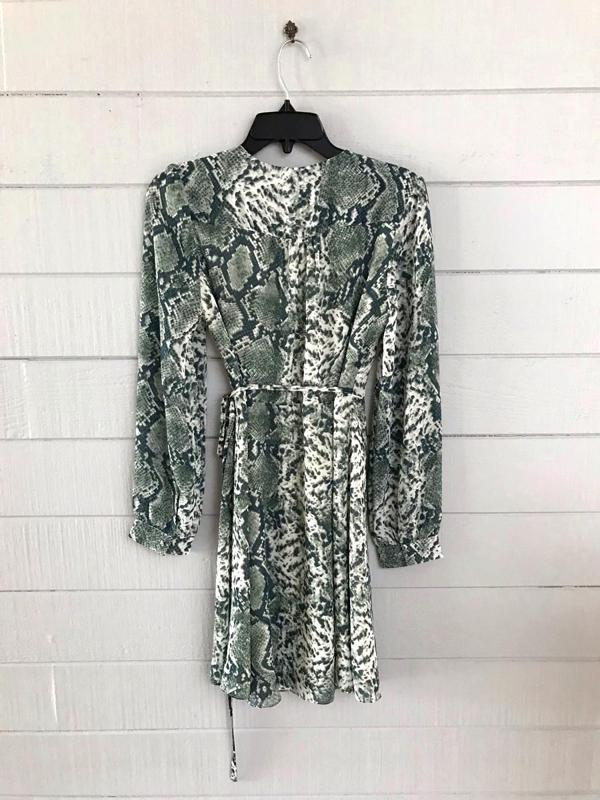 Snake Print Casual Dress