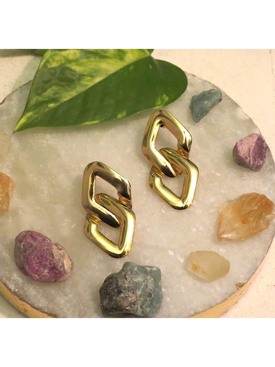 Vintage Gold Link Earrings