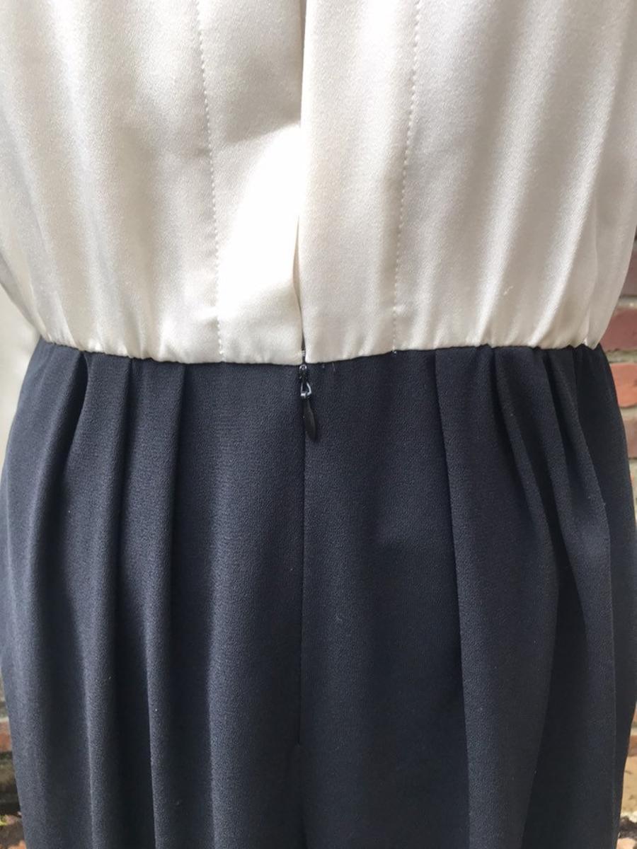 Vintage 80s-90s Liz Claiborne Petite Long Sleeve Polyester Jumpsuit