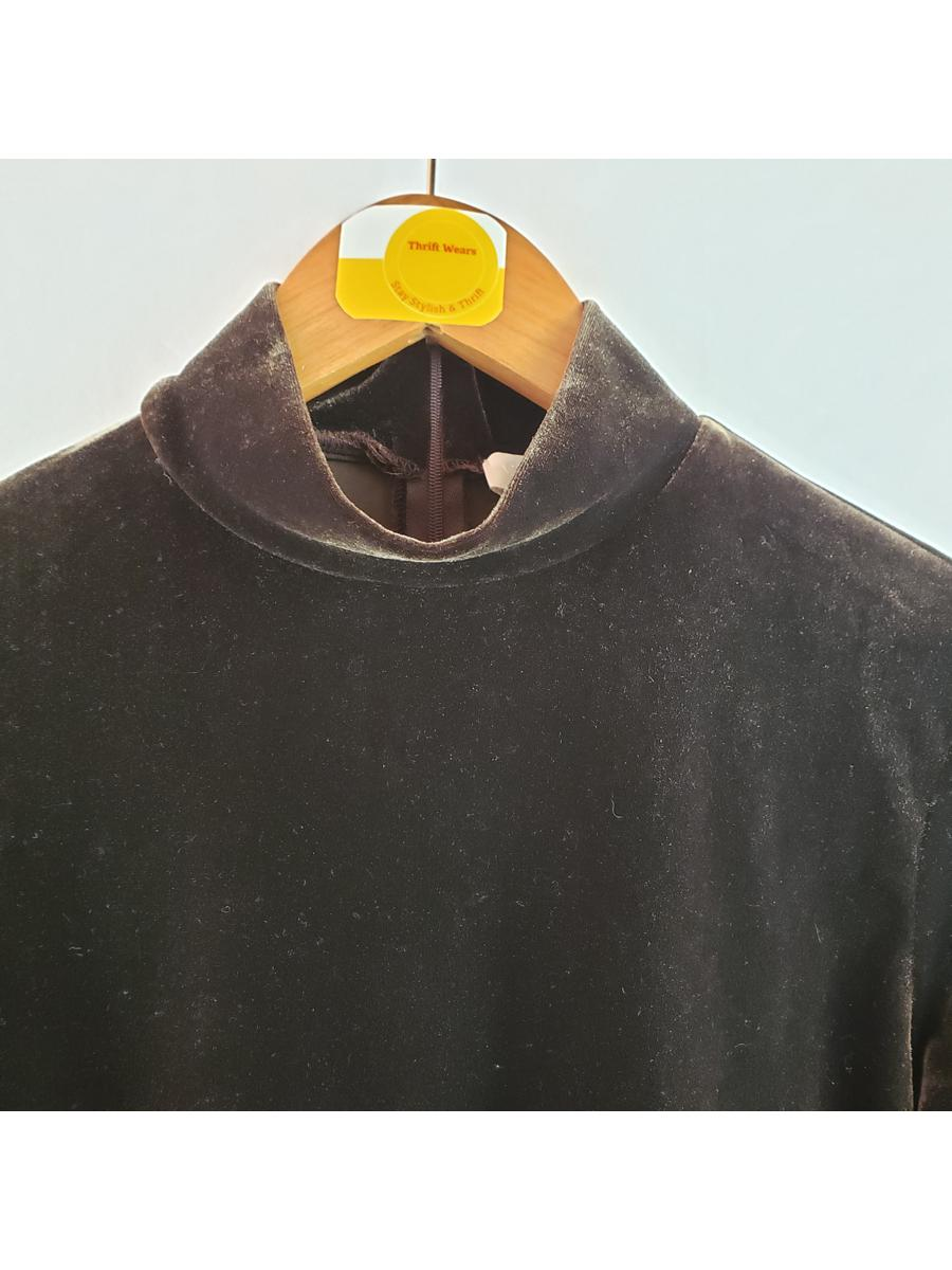 Collection Fifty Nine Vintage Mock Neck Top Womens Sz