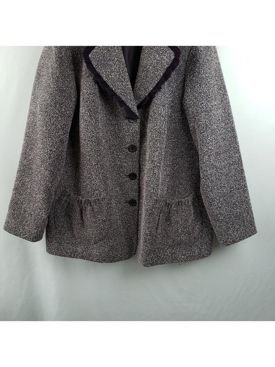 Jessica London Vintage Tweed Blazer Jacket Womens Sz 16W
