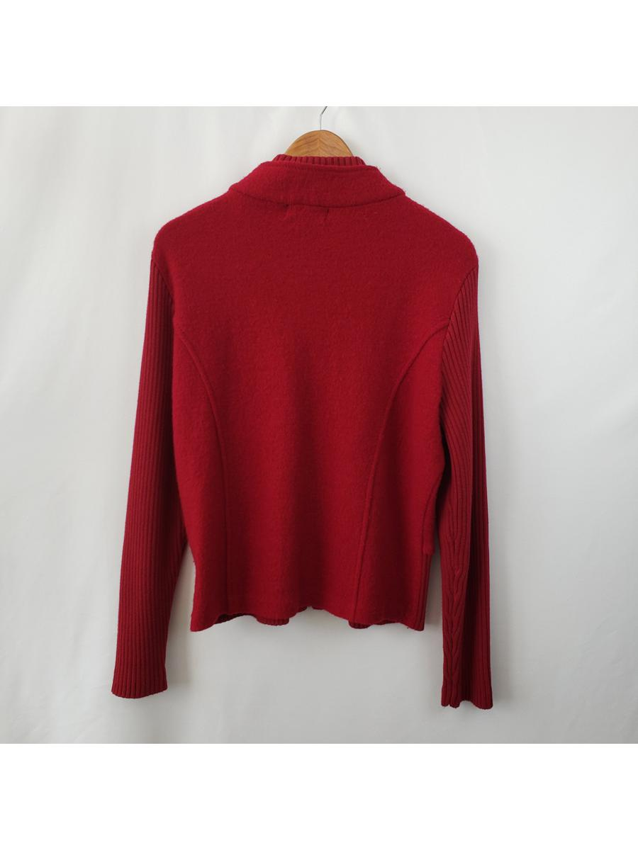 Essentials by A.B.S. Cardigan Sweater Wool Womens Sz Large