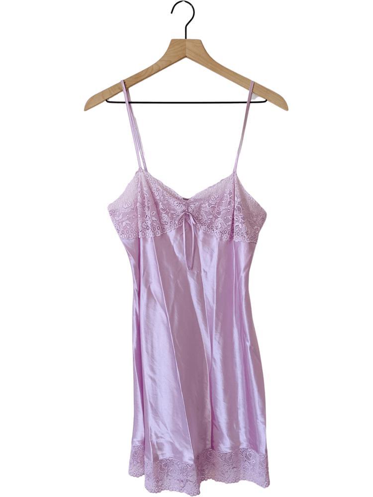 90's Lilac Mini Slip Dress