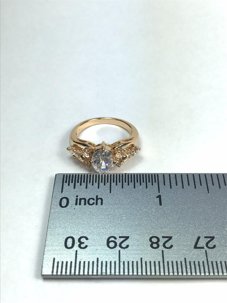 Clear Cubic Zirconia Vintage Statement Ring