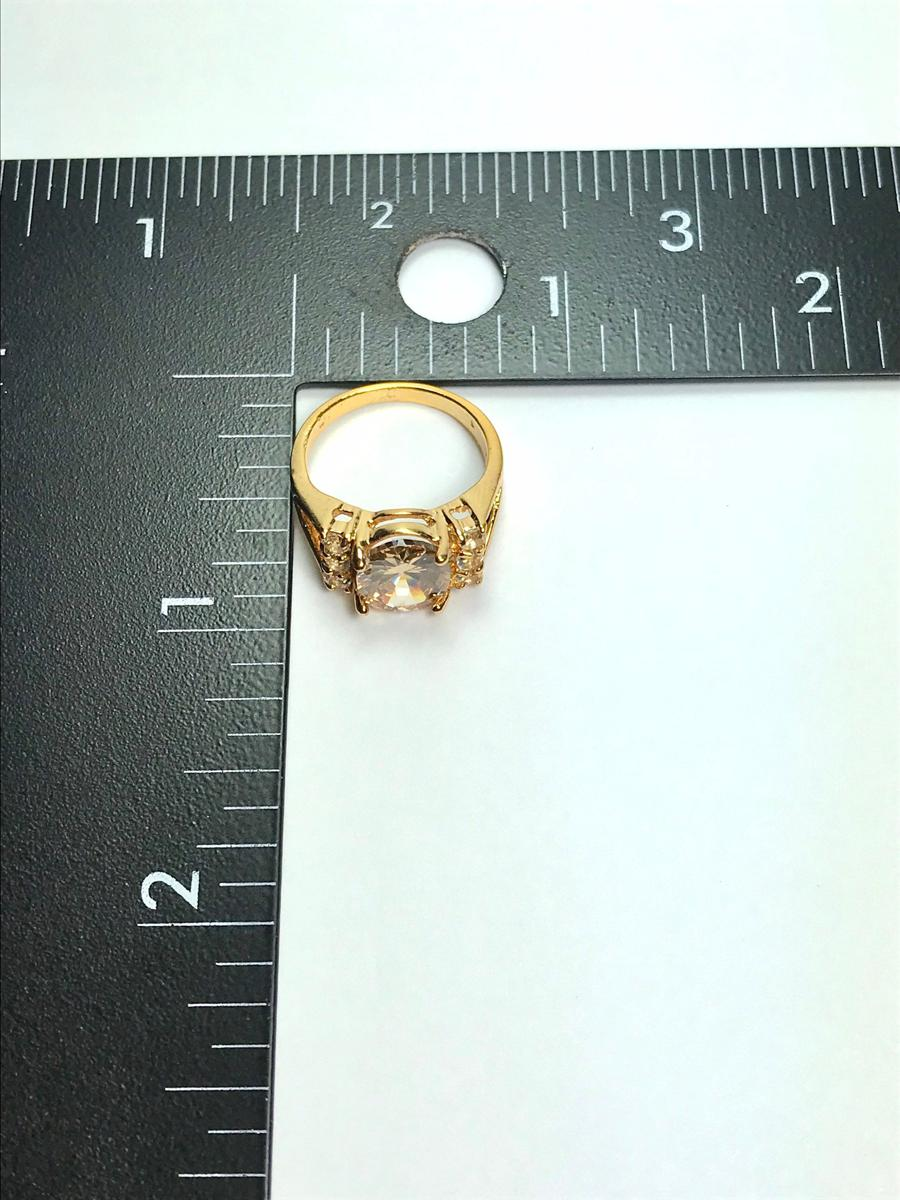 Unique Yellow Cubic Zirconia Statement Ring