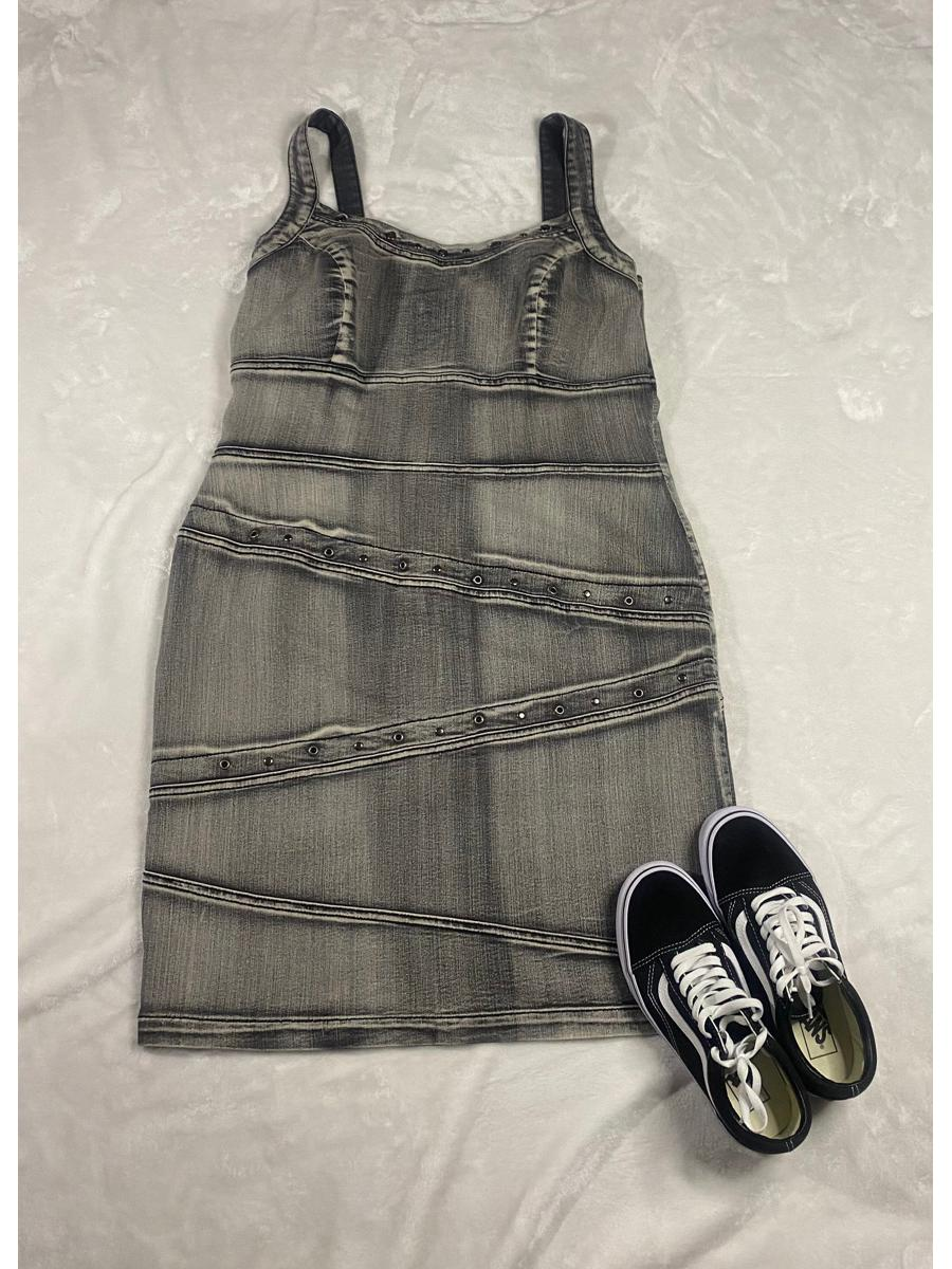Acid Wash Jean Dress