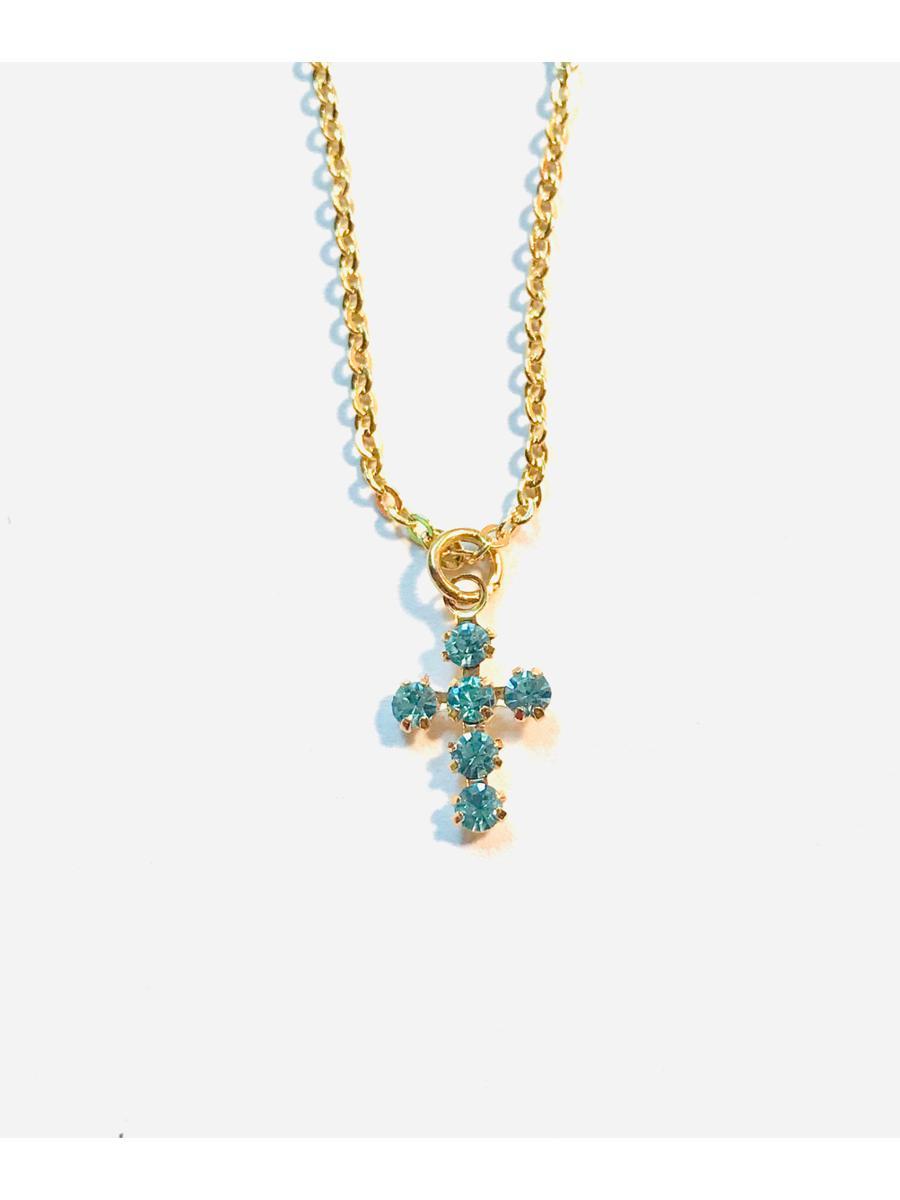 Vintage Cross Necklace, Dainty Cross Necklace, Girls Necklace, Women's