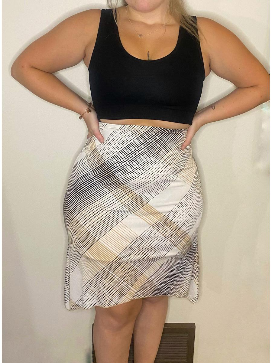Early 2000's Style Plaid Skirt