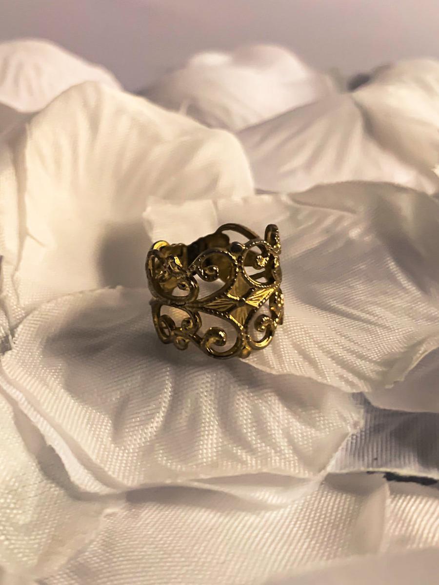 Vintage Gold Bohemian Princess Ring, Royal Vintage Statement Ring