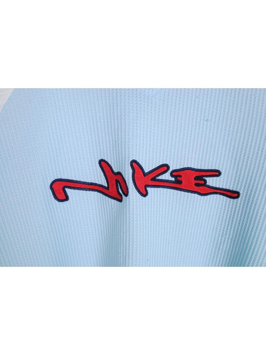 vintage NIKE big logo bootleg T-Shirt blue red polyester