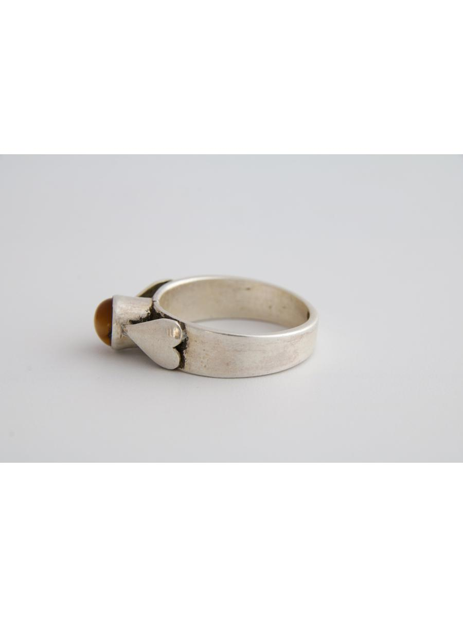 Tigers eye ring, Vintage tigers eye ring with dual