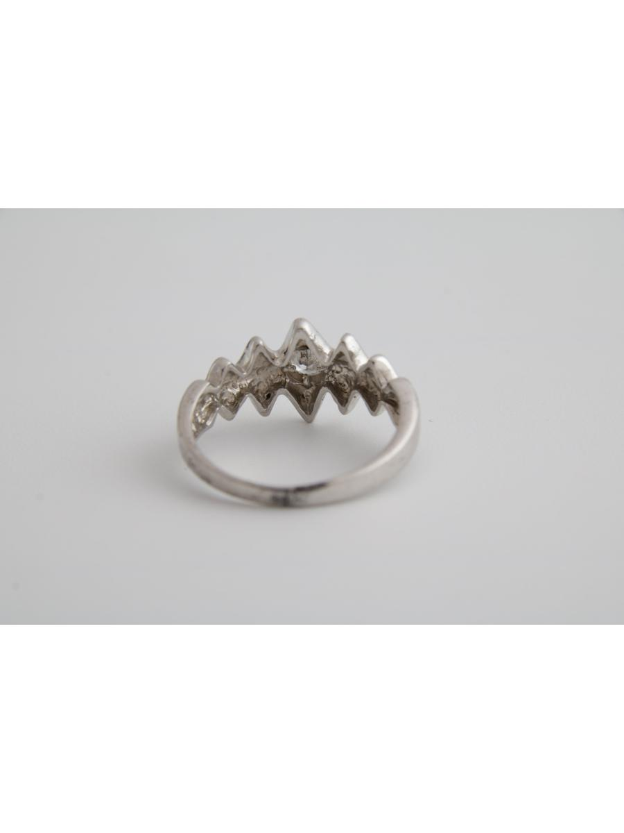 Lightning bolt ring band, Vintage thunderbolt silver ring band