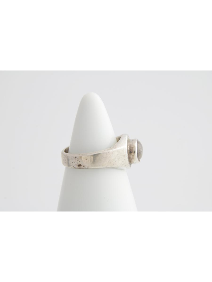 Moonstone Signet Ring, Vintage Oval Smoky Moonstone and Sterling