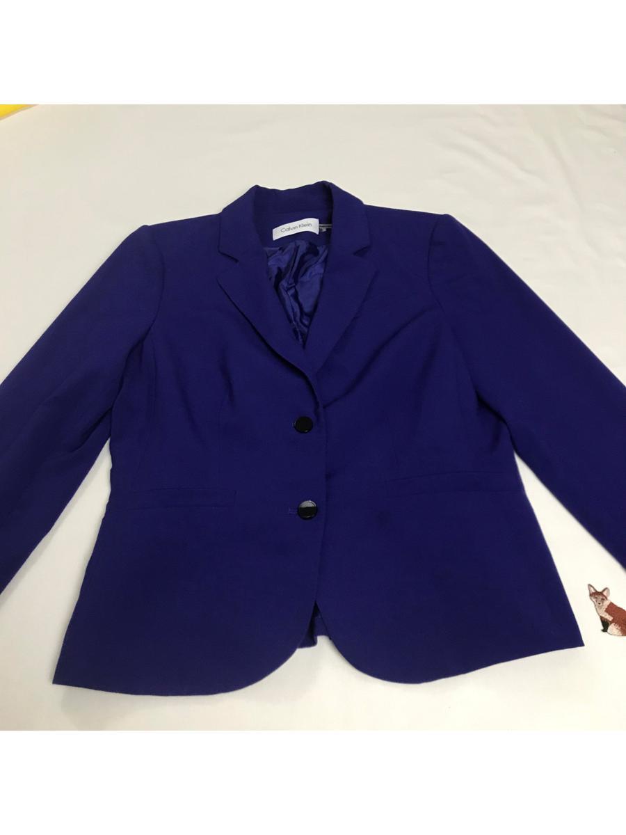 Purple Blazer | Size 8 | Calvin Klein