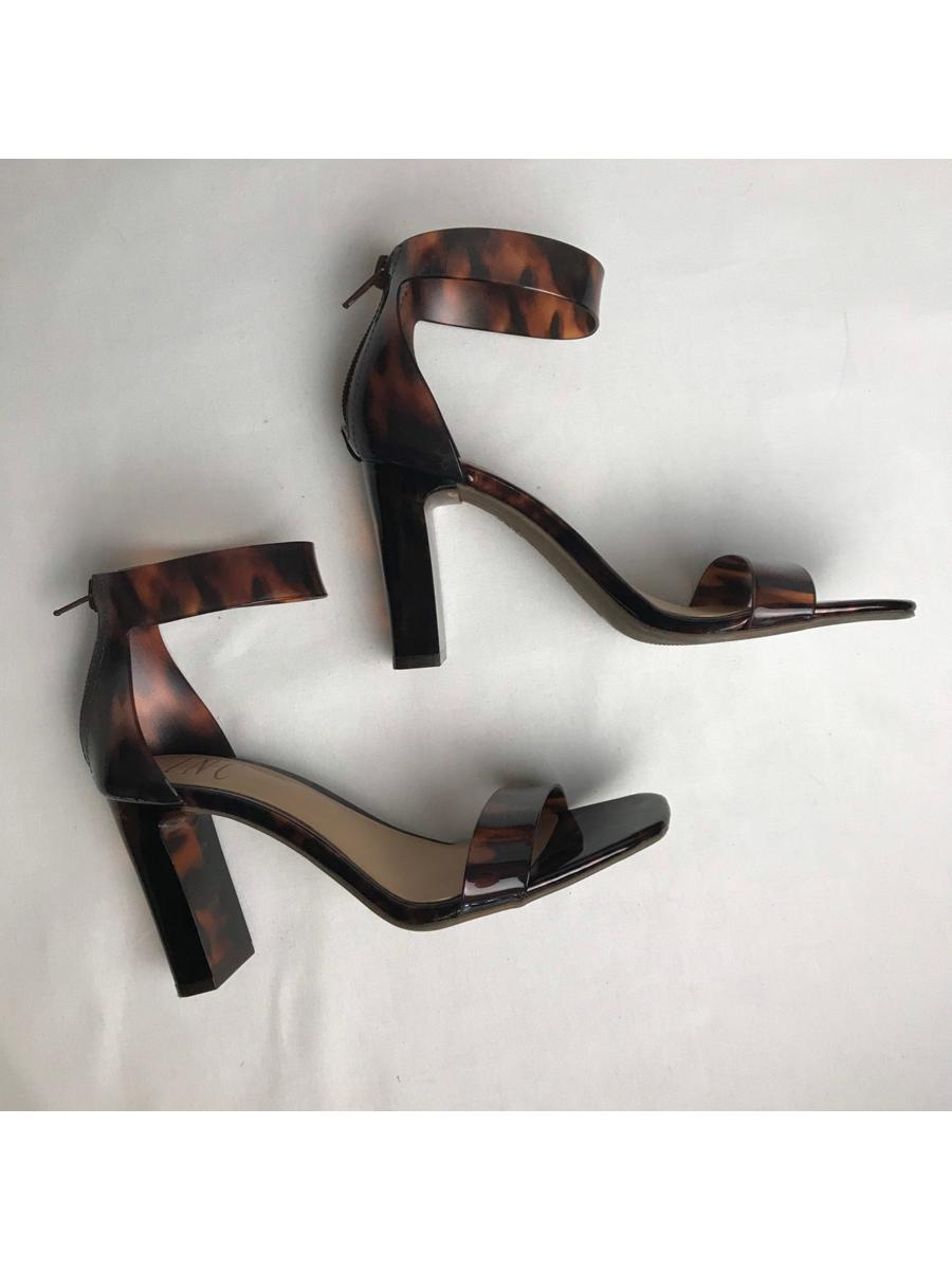 Tortoise Shell Ankle Strap Heels | INC