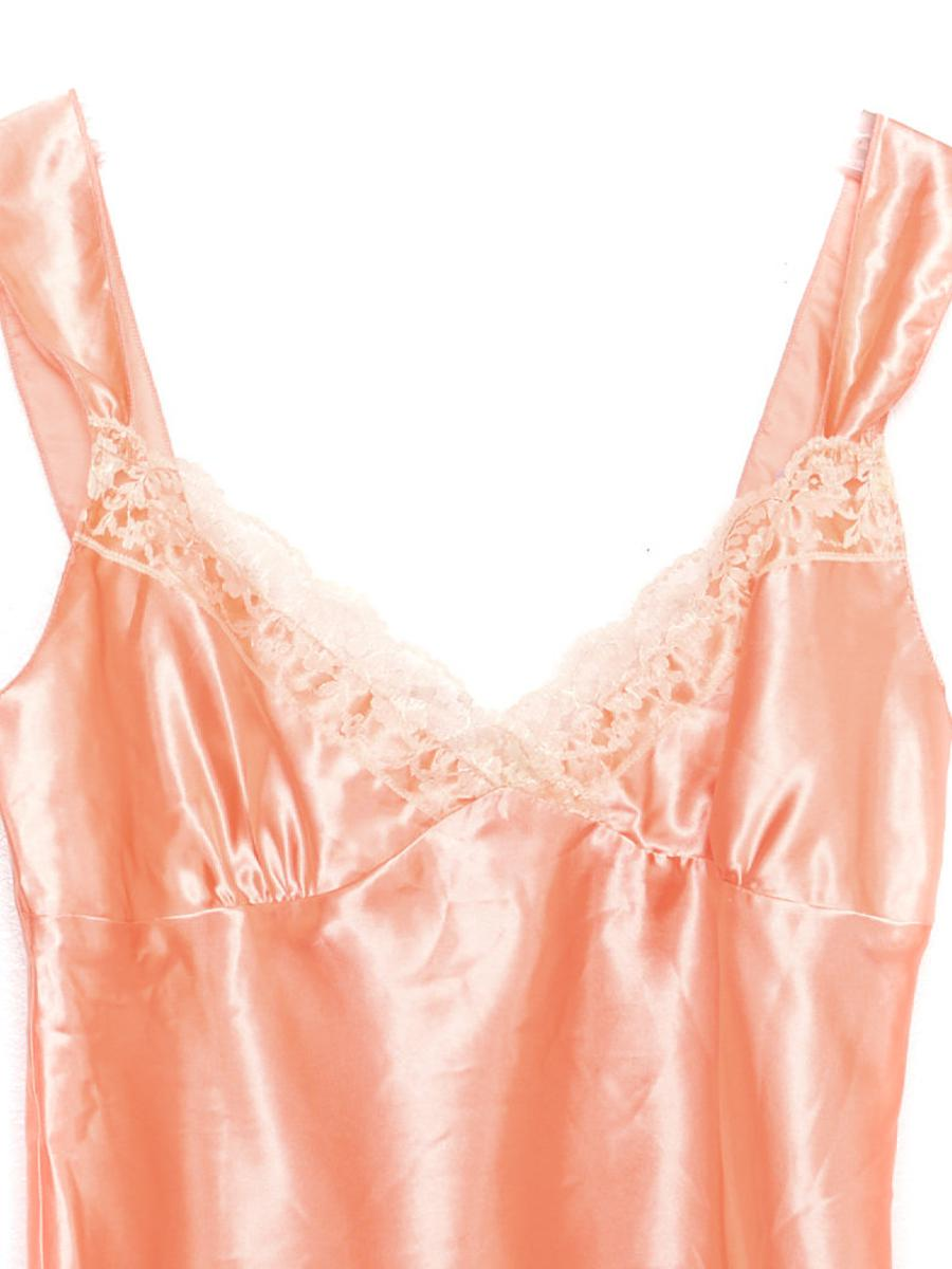 Orange Satin Tank Y2K Top Lace Camisole Satin Lace