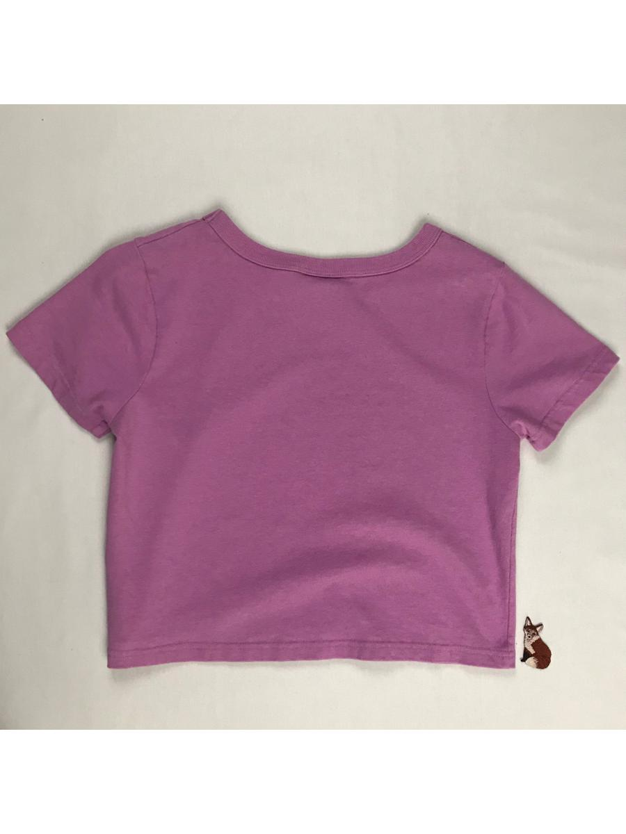 Purple Pink cropped // boxy fit t shirt