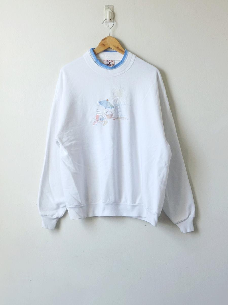 90s Beach Chair Sweatshirt - 90s Kitschy Beachy Sweatshirt