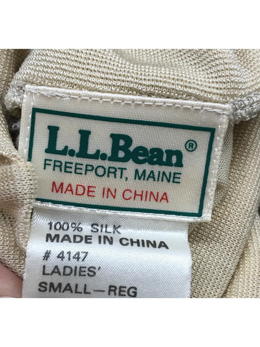 Vintage L.L. Bean Sheer Long Sleeve Beige Stretchy Silk