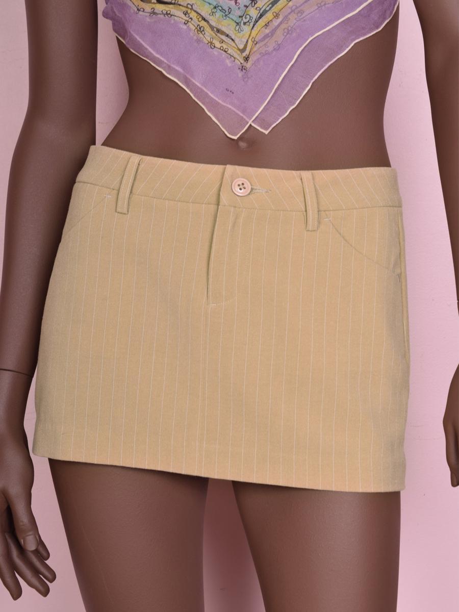 90s Y2K Striped Low Rise Mini Skirt