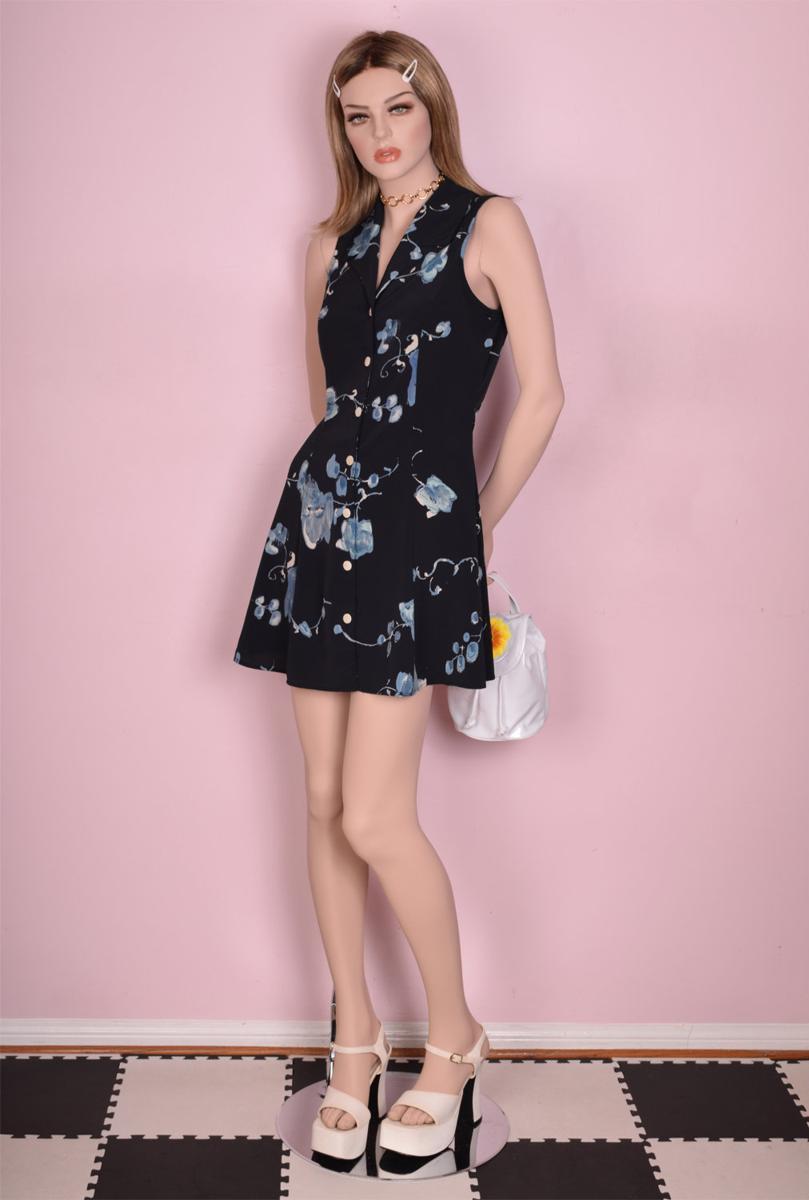 90s Floral Print Button Down Dress/