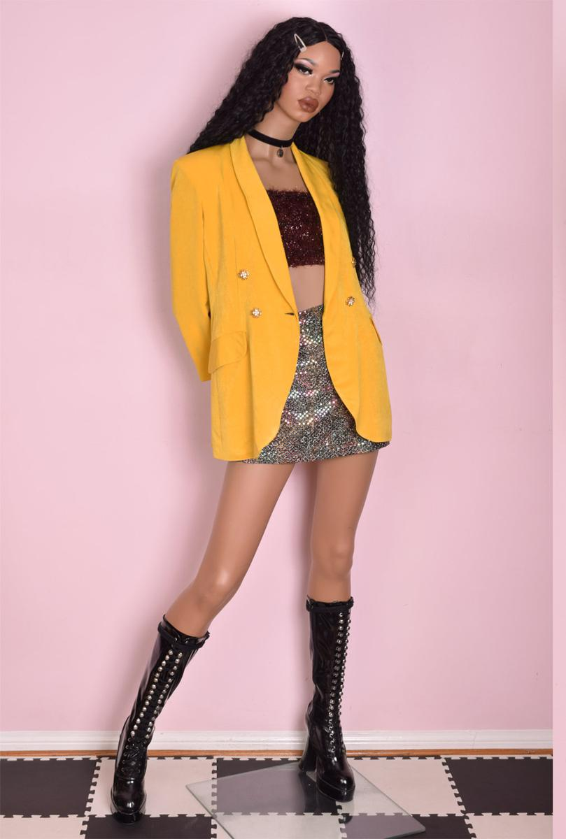 90s Mustard Blazer/ Medium/ 1990s/ Jacket