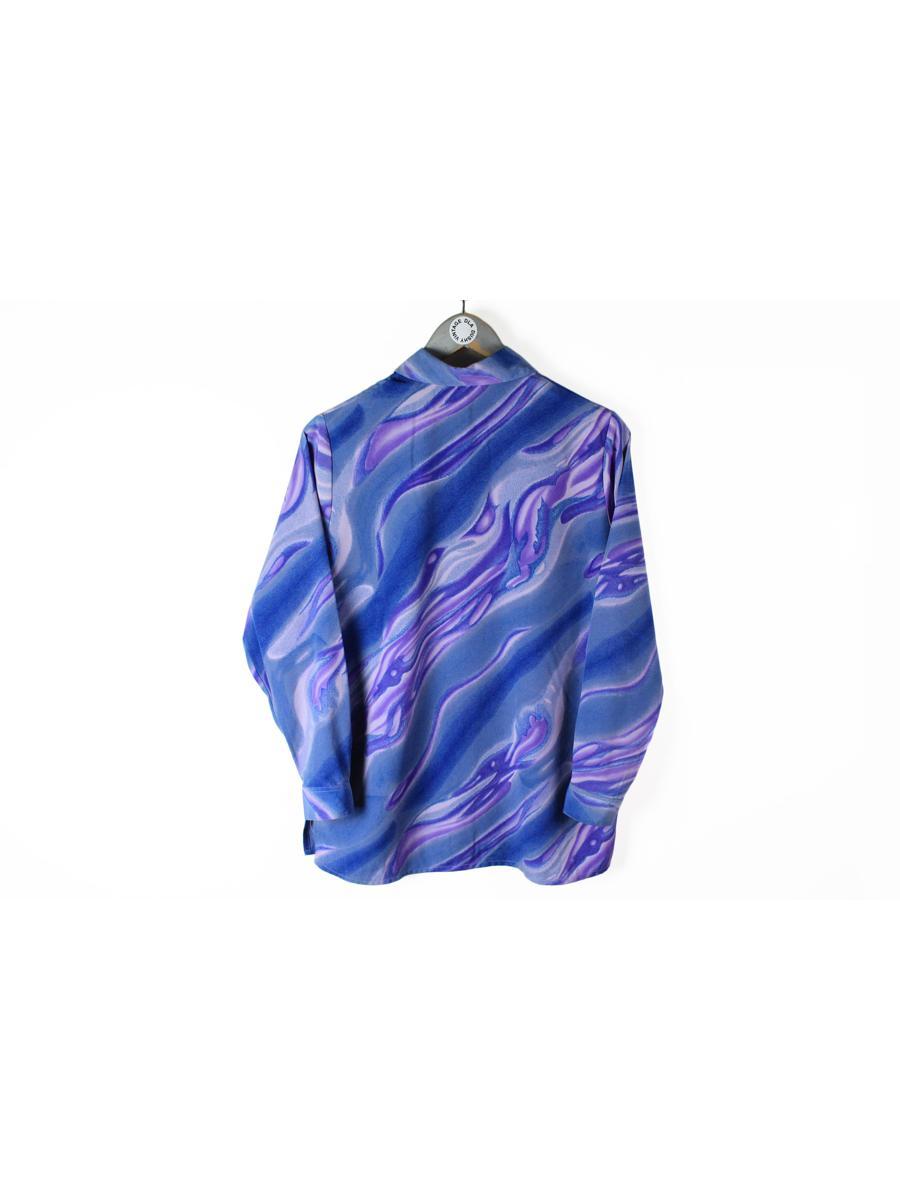 vintage CHRISTIAN DIOR blouse women's retro purple shirt crazy