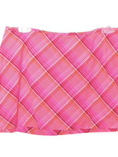 90's Pink Mini Skort Skirt Pink Plaid Mini Skirt