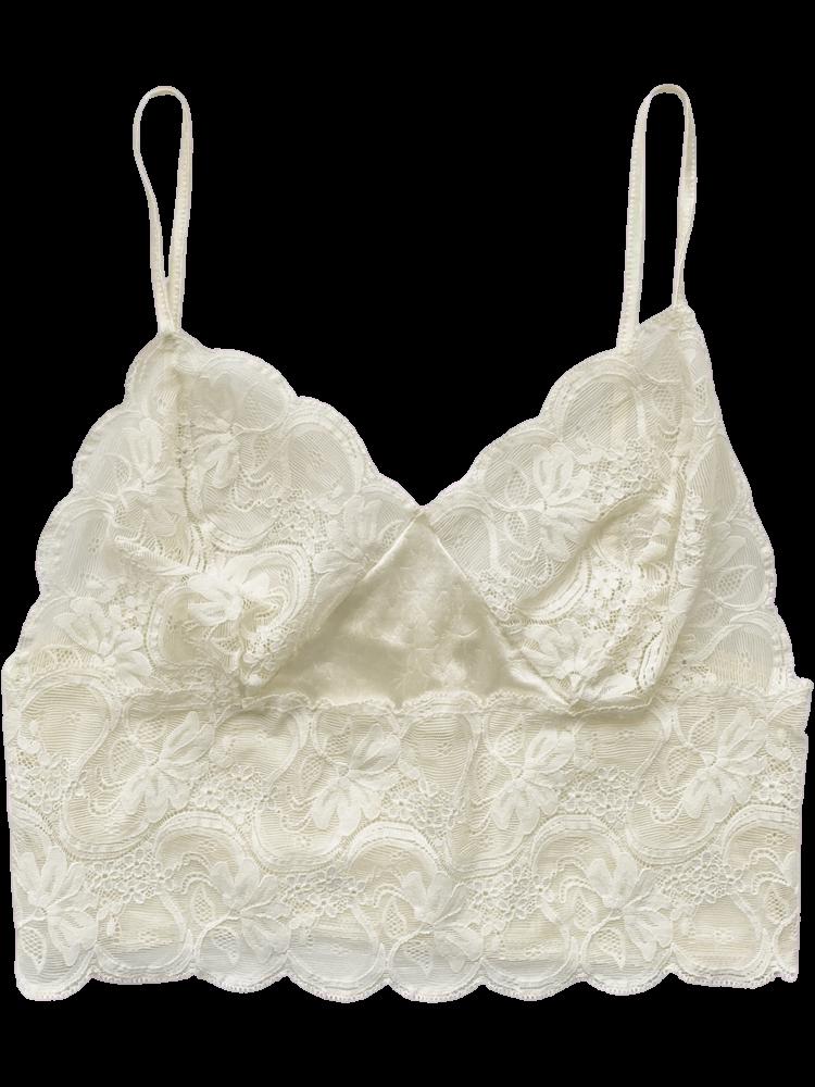 90's Ivory Lace Bralette