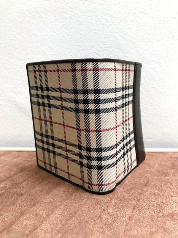 Burberry Brown & Plaid Wallet