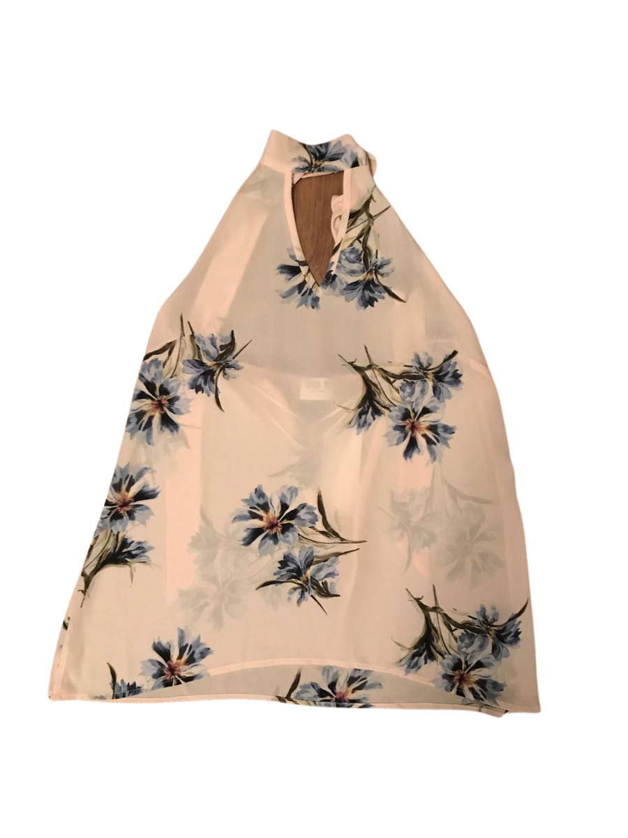 Floral Halter Open Back Tank Top | WSmall