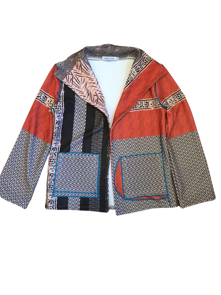 Funky Print Pull Over Open Jacket | Women's Small
